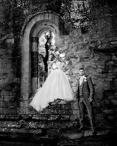 Contemporary wedding photography dryburgh abbey