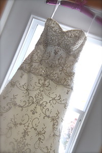 Wedding Gown hanging, gorgeous wedding gown