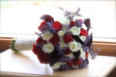 Red & Purple Bridal Bouquet