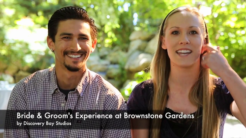 """Video review from bride & groom of their experience getting married at Brownstone Gardens. 6-7-2014<br /> <br /> Wedding photography specialists Stacey & Kelly Chance (husband & wife team) serving the San Francisco Bay Area in Northern California.<br /> <br /> """"LIKE"""" us on Facebook -<br /> <a href=""""http://www.facebook.com/"""">http://www.facebook.com/</a>DiscoveryBayStudiosPhotography<br /> <br /> Photography and music video by Discovery Bay Studios. <a href=""""http://www.discoverybaystudios.com"""">http://www.discoverybaystudios.com</a><br /> <br /> Cinematic collage of video and images set to music. <br /> Relive your precious moments with an upscale cinematic music video in about ten minutes.<br /> <br /> """"Fairytale Wedding"""" music purchased and used with permission from Patrick Smith, Electronic Philharmonic"""