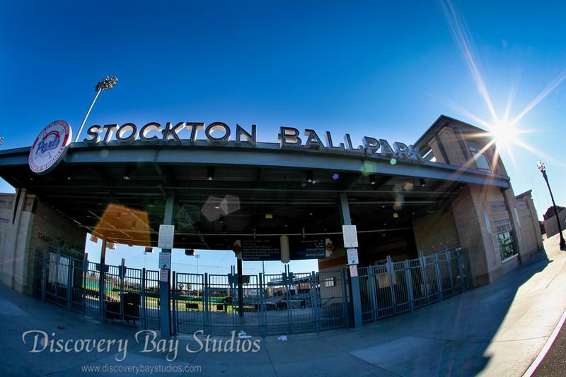 Stockton Ports Baseball Stadium wedding venue & reception. Wedding photographers