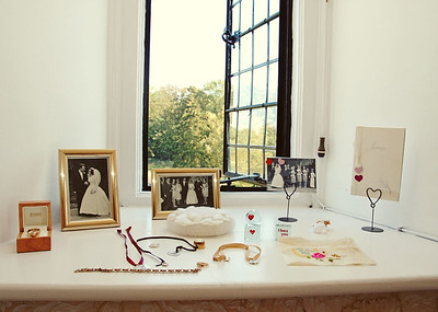 Details of the brides on a wedding day at Butley Priory
