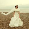 Bride on Cley Beach