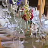 A beautiful table centre piece of stocks that smelt amazing for a wedding breakfast at Cley Windmill