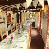 The main table set up for a wedding breakfast at Cley Windmill