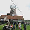 Guests enjoying a wedding reception at Cley Windmill