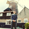 A groom before his wedding ceremony at Cley Windmill
