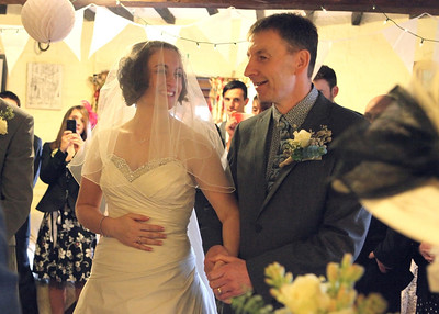 Cley windmill winter wedding ceremony