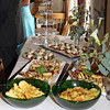Nibbles for the guests at a wedding reception at Cley Windmill
