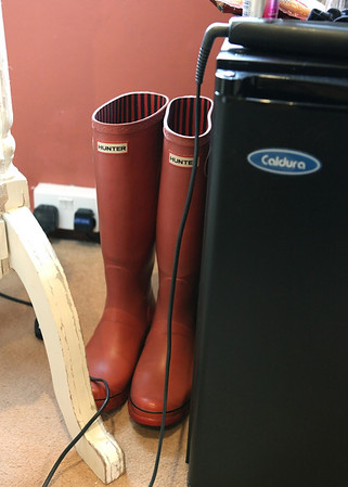 Hunters wellies for a wedding trip to Cley Beach from Cley Windmill