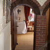 Looking from the granary through into the wedding reception room at Cley Windmill