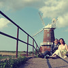 Lovely couple photo on their wedding day at Cley Windmill
