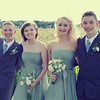 Beautiful Bridesmaids and ushers photographed at a wedding by the reed beds at Cley Windmill