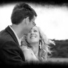 A happy couple at Cley Windmill on their wedding day
