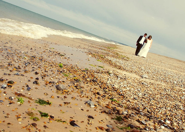 Cley Beach Wedding Photographs