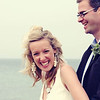 A bride and groom on Cley Beach before their wedding breakfast at Cley Windmill