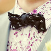A funky bow tie for a groom at Cley Windmill