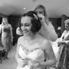 A bride getting ready at Cley Windmill for her winter wedding