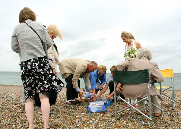 Pimms and Scones on Cley Beach for a windy wedding reception
