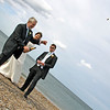 Champagne on Cley Beach following a wedding ceremony at Cley Windmill