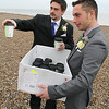 Hot chocolate for a Cley beach winter wedding