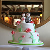 A stunning cake at a wedding at Cley Windmill