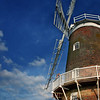 A sunny day for a wedding at Cley Windmill