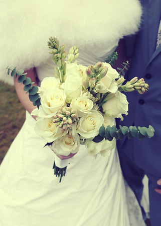 A gorgeous bride's bouquet at Cley Windmill