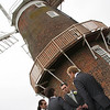 The men before the wedding ceremony at Cley Windmill