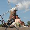 A gorgeous couple on their wedding day at Cley Windmill