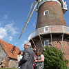 A wedding reception at Cley Windmill in July