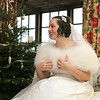 Winter wedding bride in the granary at Cley Windmill