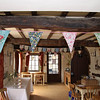 A wedding reception with some vintage bunting at Cley Windmill