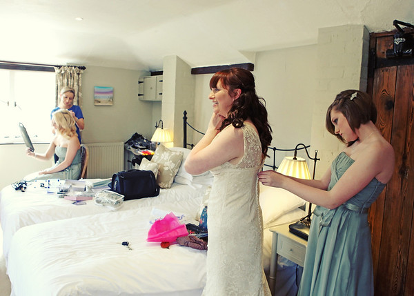 Getting ready at Cley Windmill in the newly refurnished bridal room