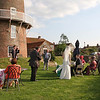 Guests enjoying themself at a wedding reception at Cley Windmill