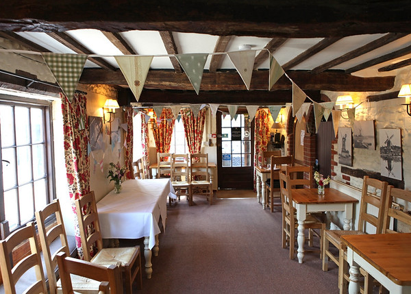 The wedding reception room at Cley Windmill
