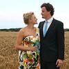A bridesmaid and her partner at Dairy Barns