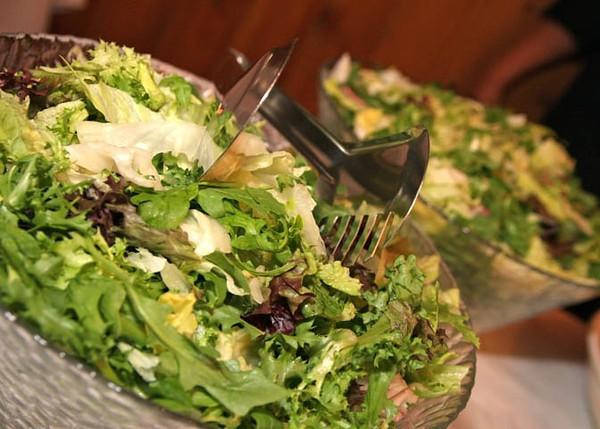 Salad to accompany a hog roast as a wedding breakfast at Dairy Barns