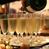 Champagne for the speeches and toasts at a wedding at Dairy Barns