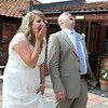 A bride and groom before being announced in to their wedding breakfast at Dairy Barns