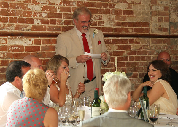 Father of the bride speech at Dairy Barns