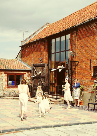 Dairy Barns before a wedding ceremony