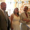 A wedding ceremony at Dairy Barns