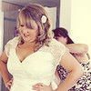 A bride getting ready at Dairy Barns