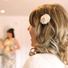 Simple but beautiful hair piece for the bride