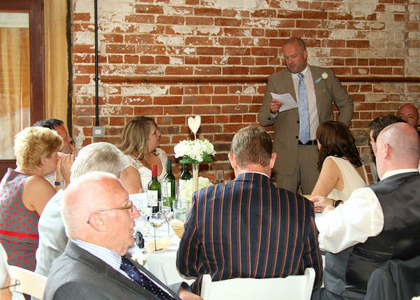 A groom's speech at Dairy Barns