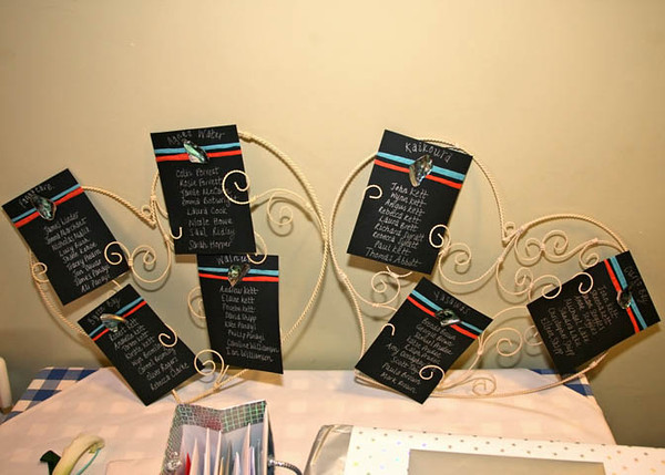 An interesting and different table plan for a wedding breakfast at Dairy Barns