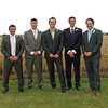 A formal of the boys before the grooms wedding at Dairy Barns
