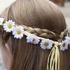 Stunning daisy headband for flowergirl at Dairy Barns
