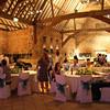 An evening reception at Elms Barn